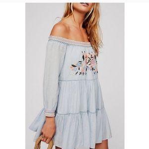 NWT FP Free People Sunbeams Boho Medium Mini Dress